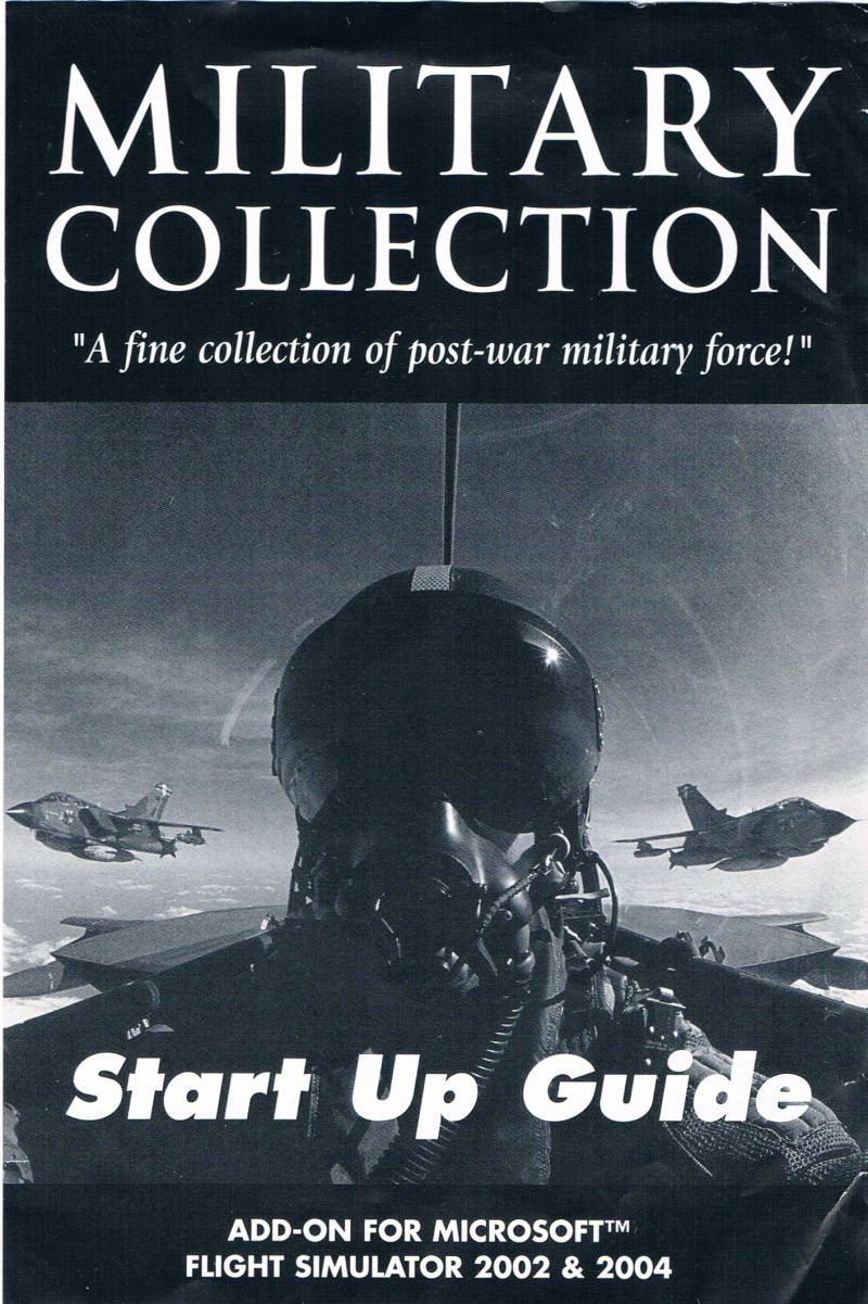 Military Collection Windows Manual 1-page Start Up Guide.