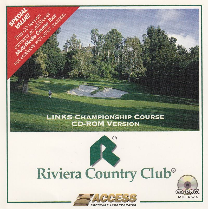 Links: Championship Course - Riviera Country Club DOS Front Cover
