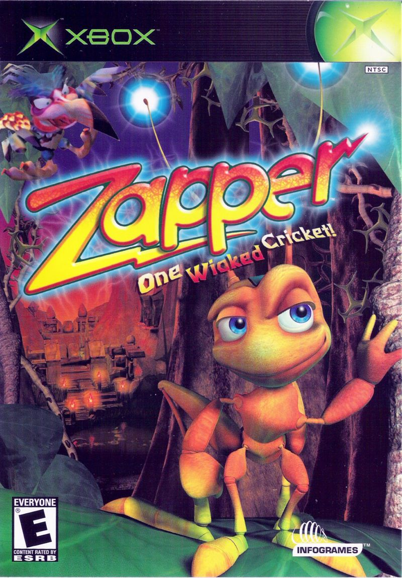 Zapper: One Wicked Cricket! Xbox Front Cover