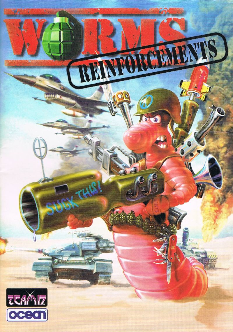 Worms: Reinforcements DOS Manual Front