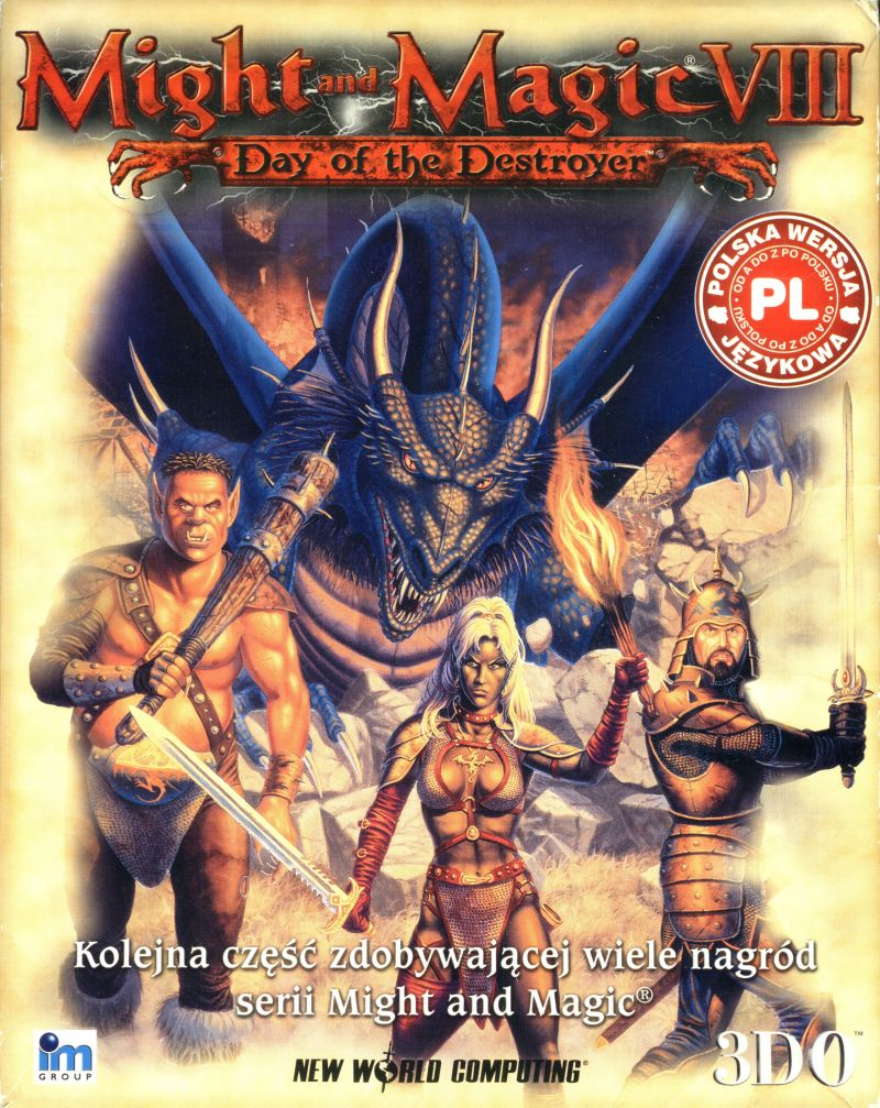 Might and Magic VIII: Day of the Destroyer Windows Front Cover