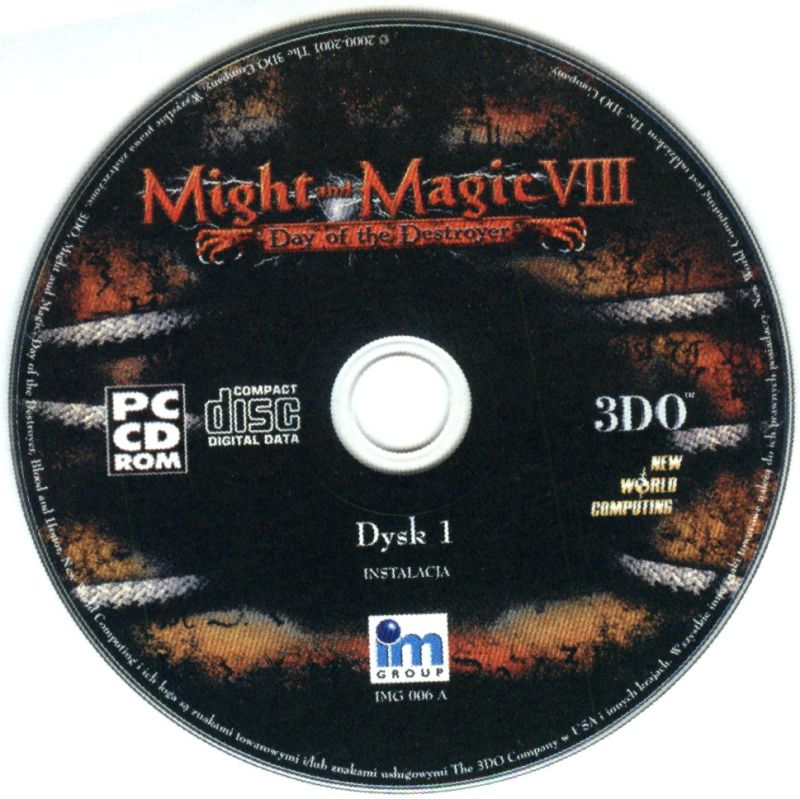 Might and Magic VIII: Day of the Destroyer Windows Media Disc 1/2