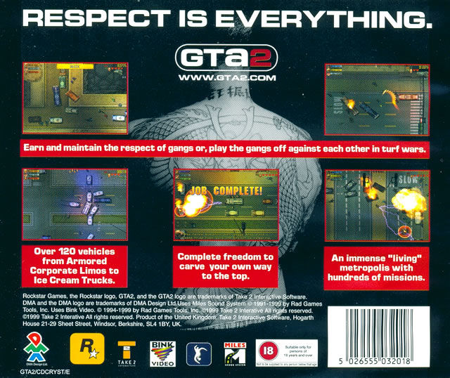 Grand Theft Auto 2 Windows Other Jewel Case - Back