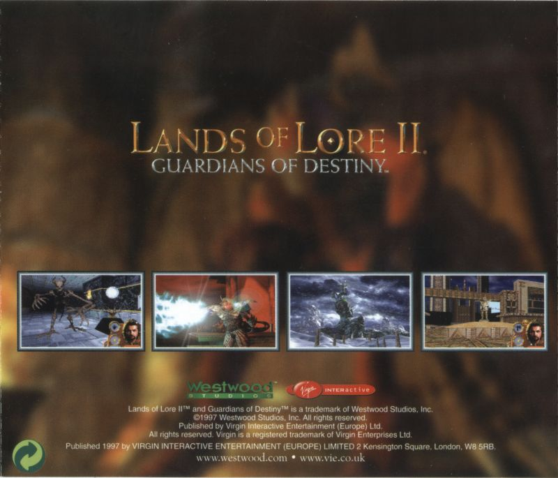 Lands of Lore: Guardians of Destiny DOS Other Jewel Case - Back