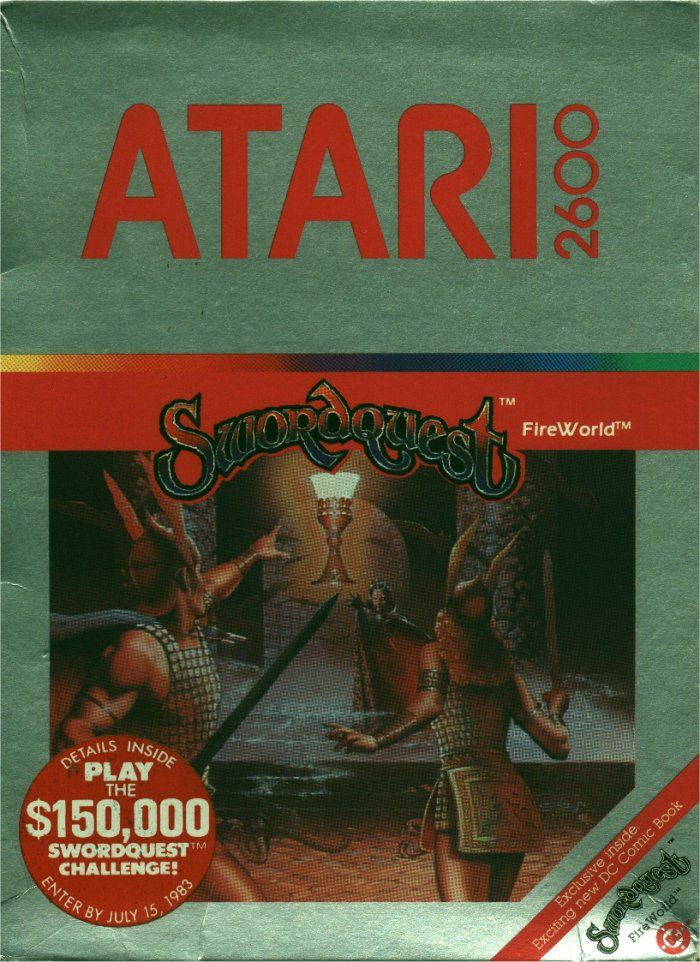 SwordQuest: FireWorld Atari 2600 Front Cover