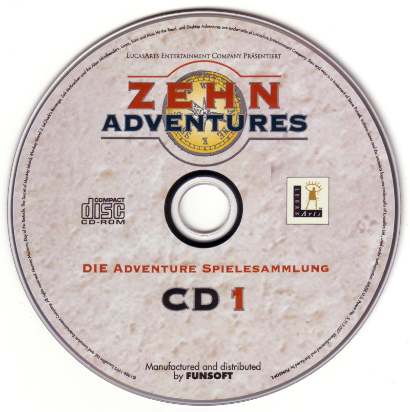 Zehn Adventures DOS Media Disc 1