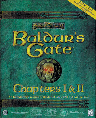 Baldur's Gate Chapters I & II Windows Front Cover