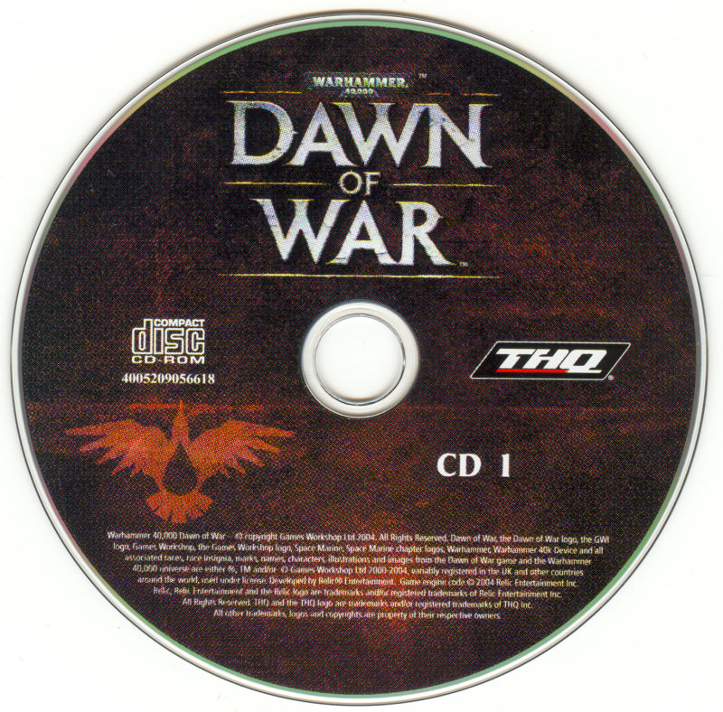 Warhammer 40,000: Dawn of War Windows Media Disc 1