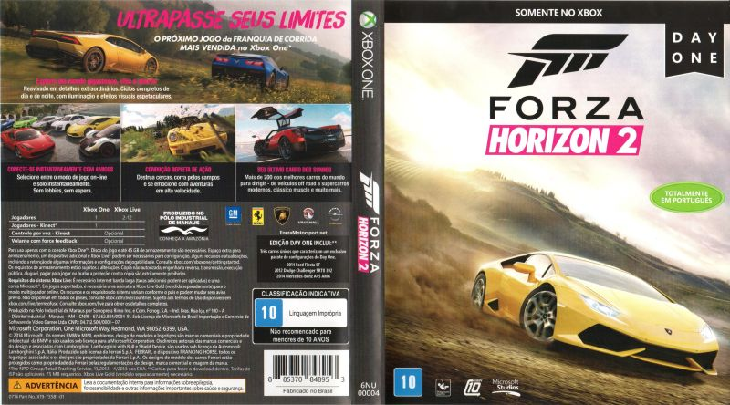 forza horizon 2 2014 xbox 360 box cover art mobygames. Black Bedroom Furniture Sets. Home Design Ideas