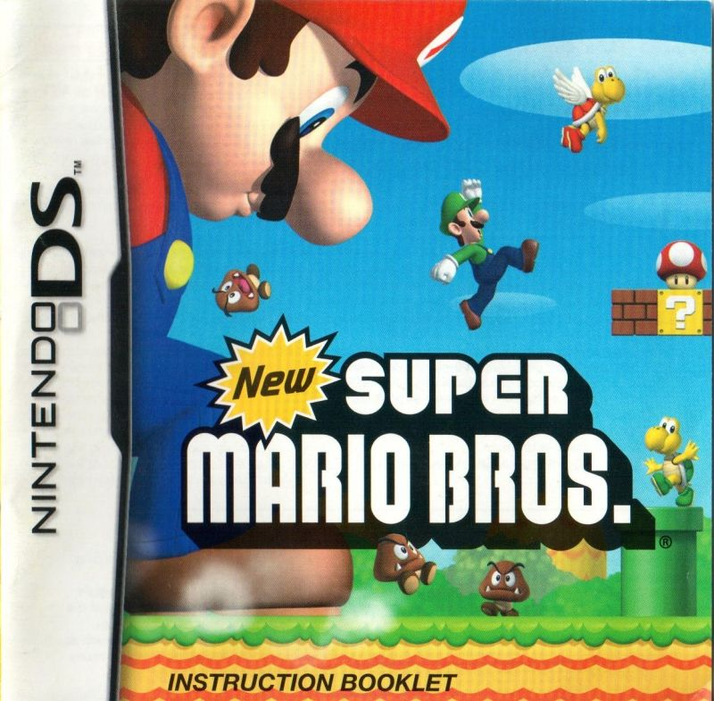 Instruction booklet manual for the brain age 2 nintendo ds game.
