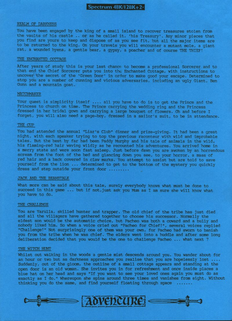 Deep One Zx Spectrum Extras Page 2