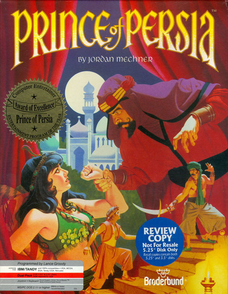 Prince of Persia DOS Front Cover
