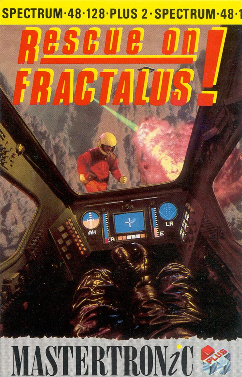 Rescue on Fractalus! ZX Spectrum Front Cover