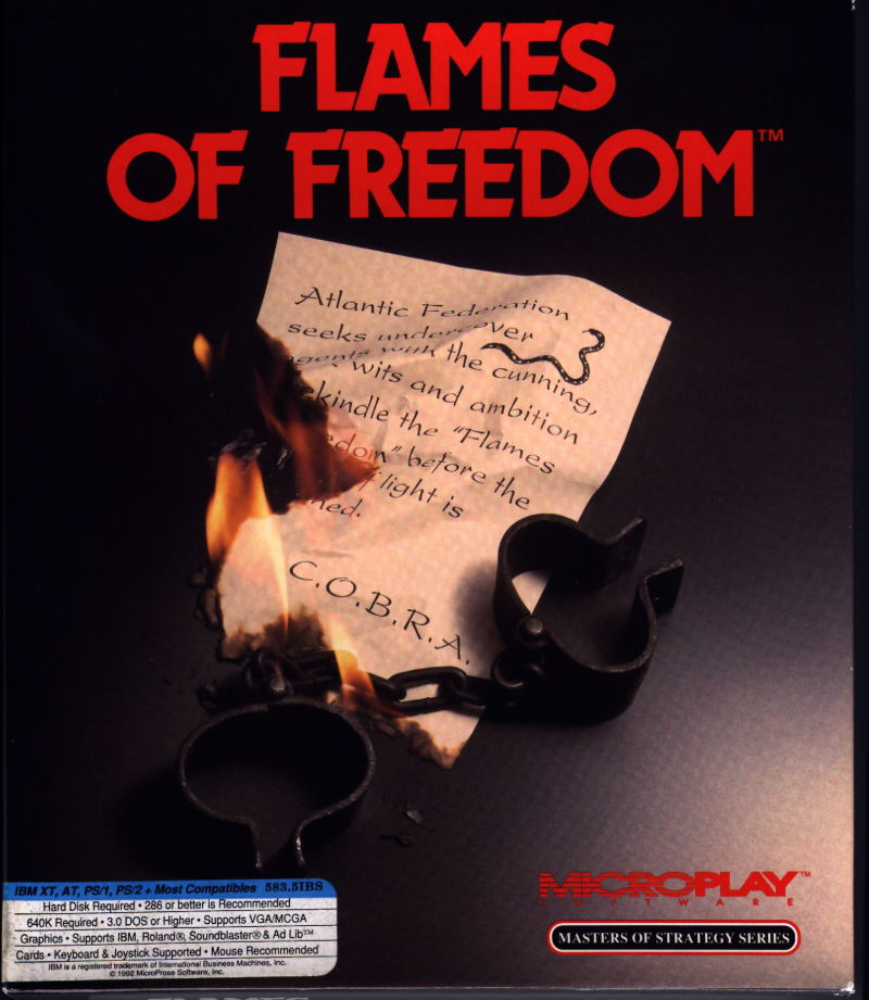 Flames of Freedom DOS Front Cover