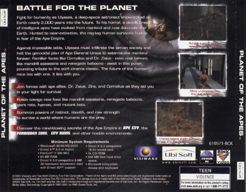 Planet of the Apes (2001) Windows box cover art - MobyGames