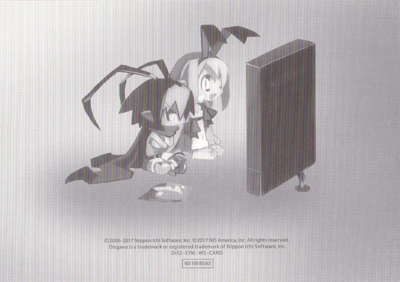 Disgaea 2 PC (Desktop Bundle) Linux Extras Art Card 4 - Back