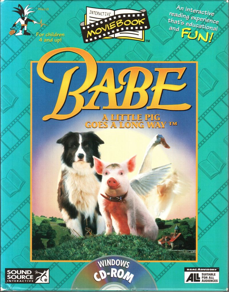 babe a little pig goes a long way interactive moviebook for windows 3 x 1995 mobygames. Black Bedroom Furniture Sets. Home Design Ideas