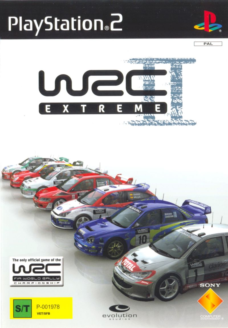 WRC II Extreme PlayStation 2 Front Cover