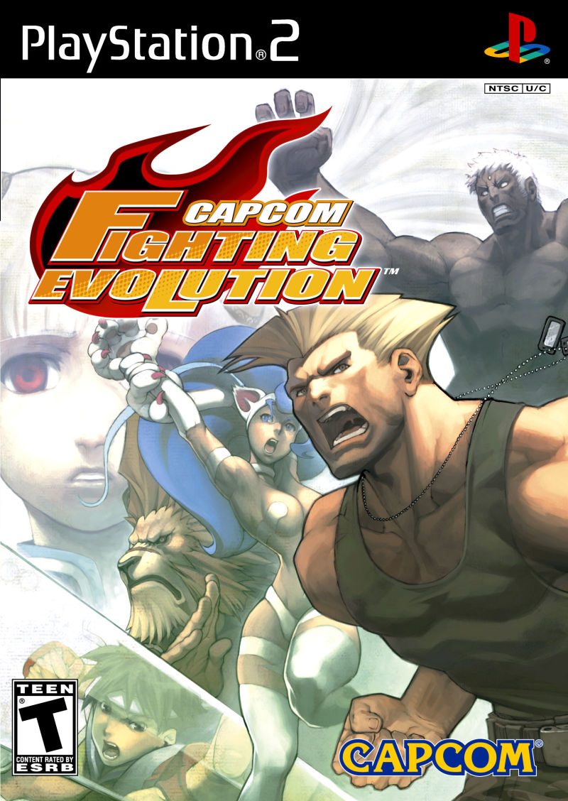 Capcom Fighting Evolution PlayStation 2 Front Cover