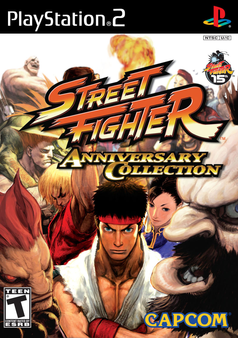 Street Fighter: Anniversary Collection PlayStation 2 Front Cover