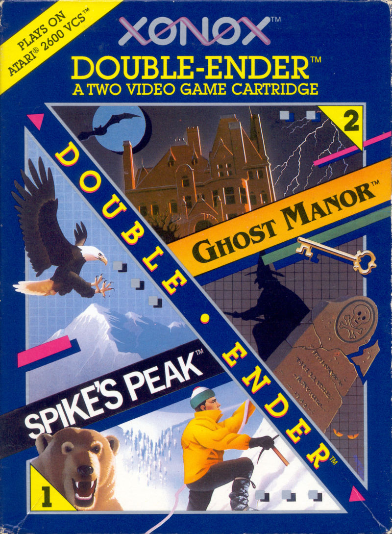 Xonox Double-Ender: Spike's Peak and Ghost Manor Atari 2600 Front Cover