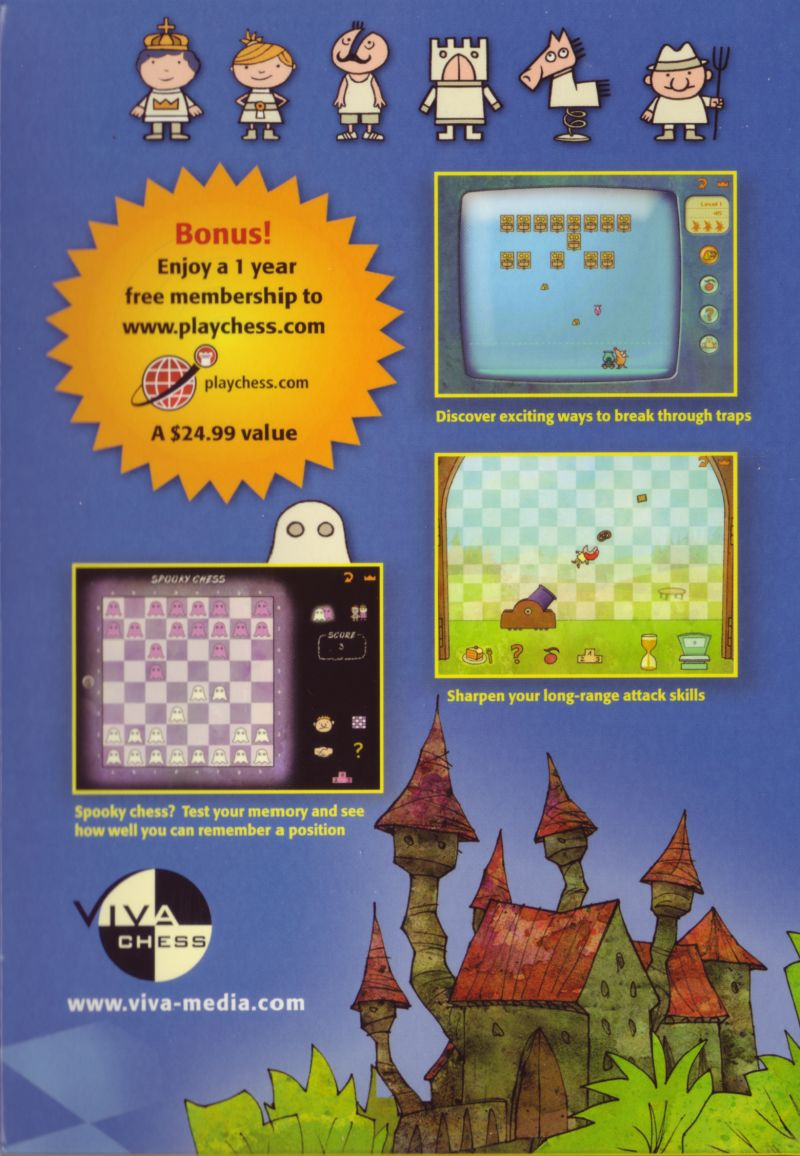 Learn to Play Chess with Fritz & Chesster 2: Chess in the Black Castle Windows Inside Cover Right Flap