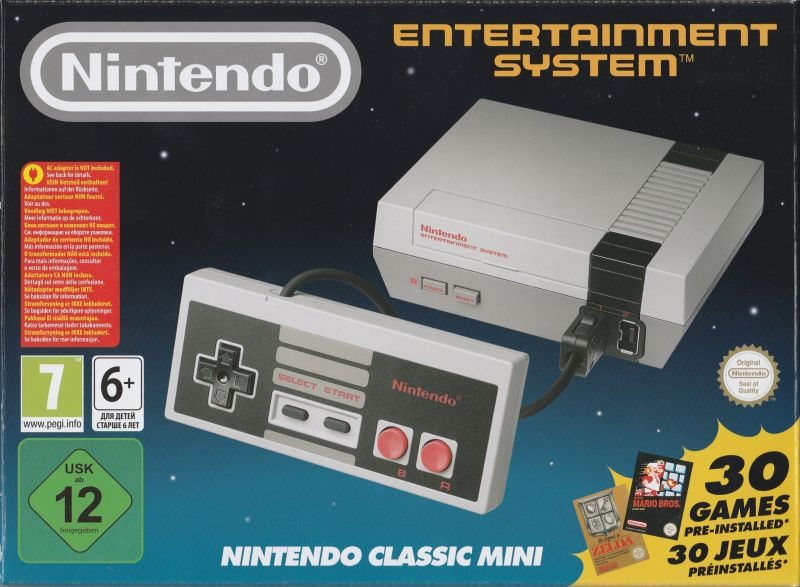 Nintendo Entertainment System: NES Classic Edition Dedicated console Front Cover