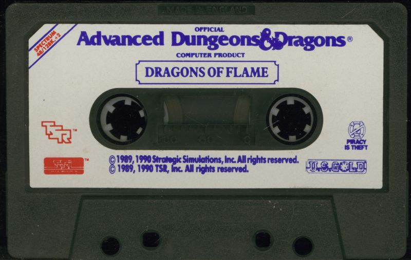 Dragons of Flame ZX Spectrum Media