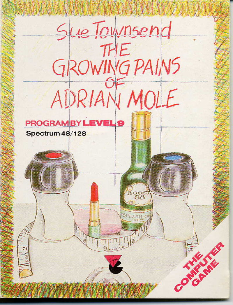 The Growing Pains of Adrian Mole ZX Spectrum Front Cover