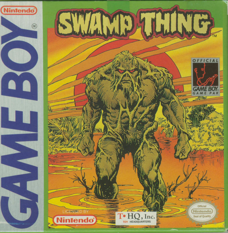 Swamp Thing Game Boy Front Cover