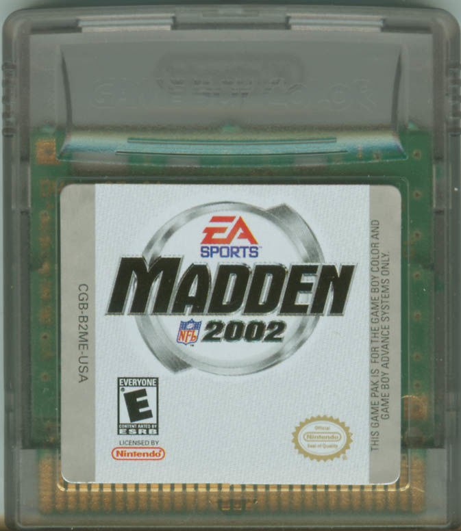 Madden NFL 2002 Game Boy Color Media
