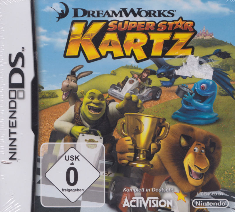 DreamWorks Super Star Kartz Nintendo DS Front Cover