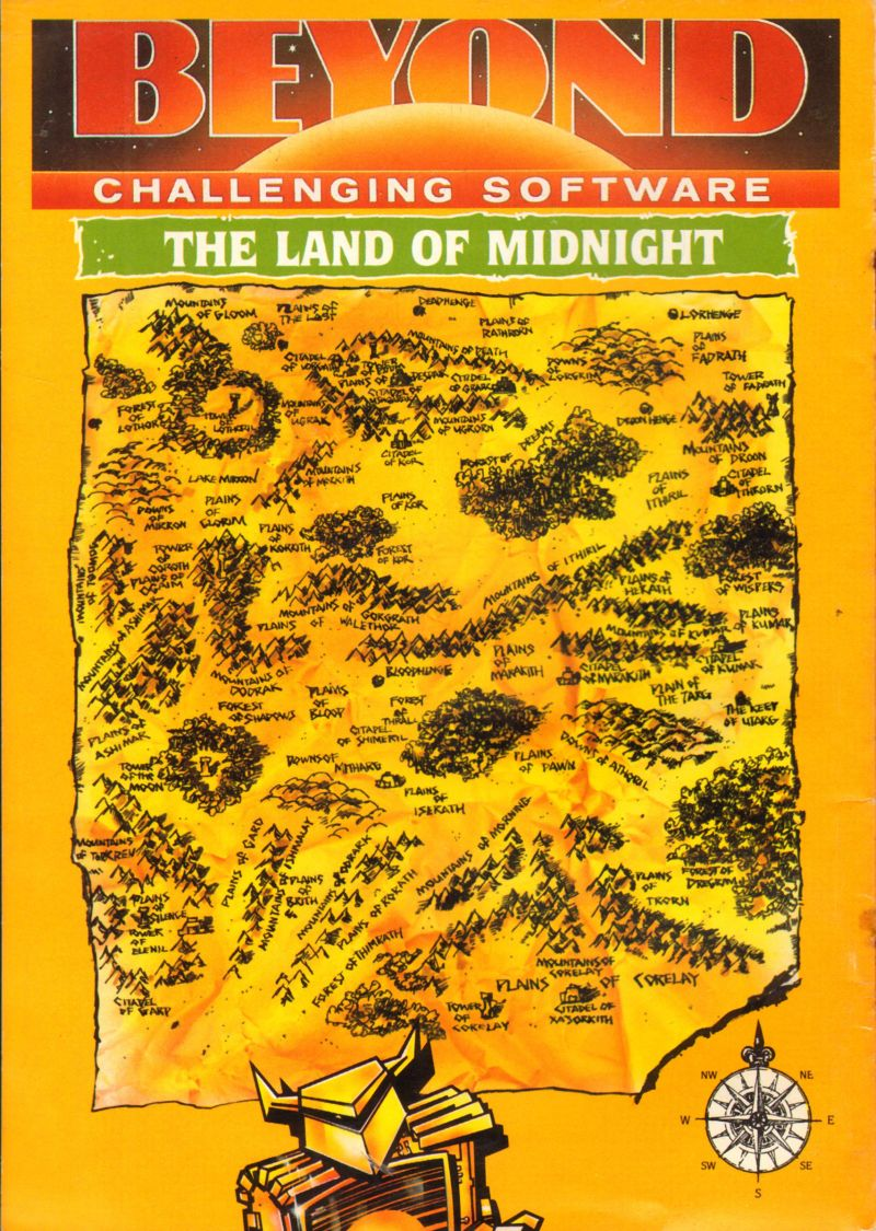The Lords of Midnight ZX Spectrum Manual Back