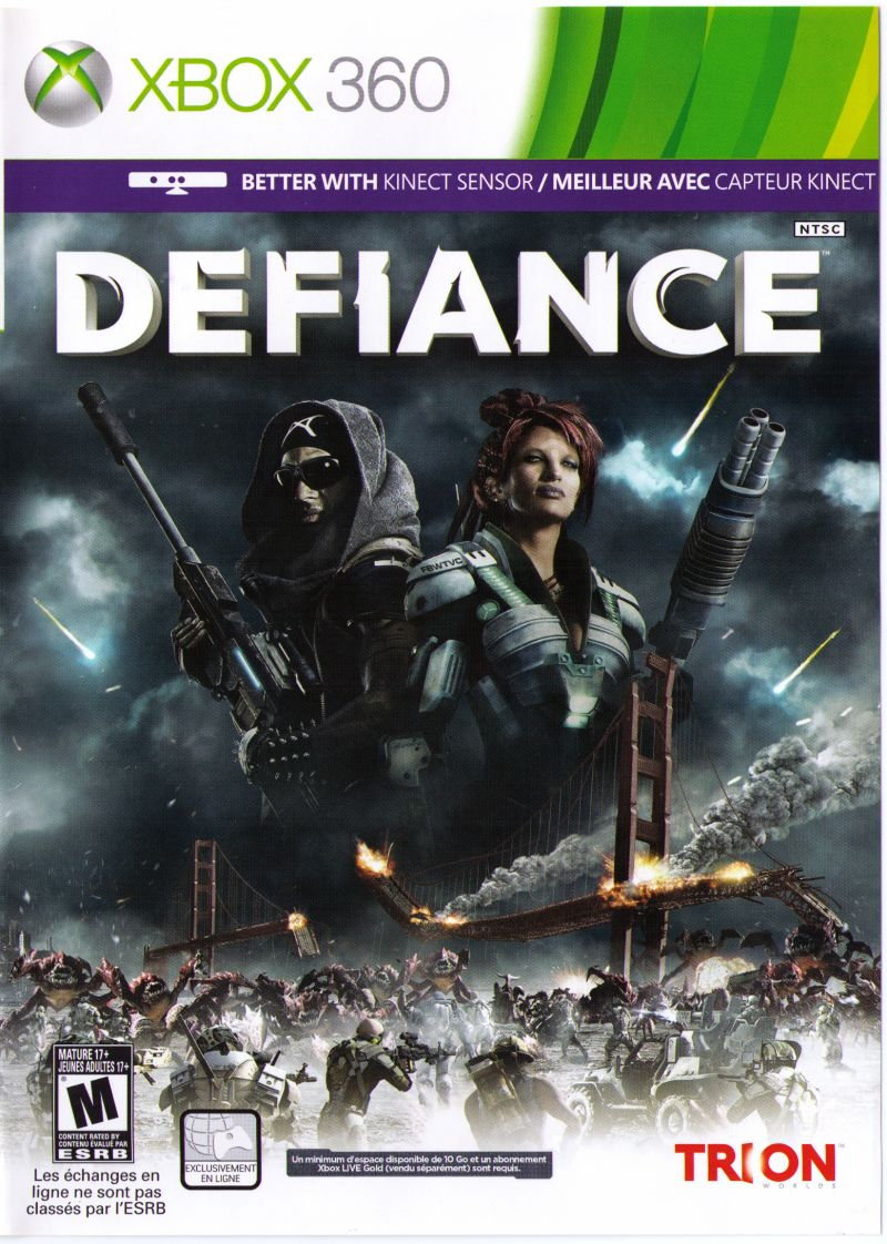 Defiance (2013) PlayStation 3 box cover art - MobyGames
