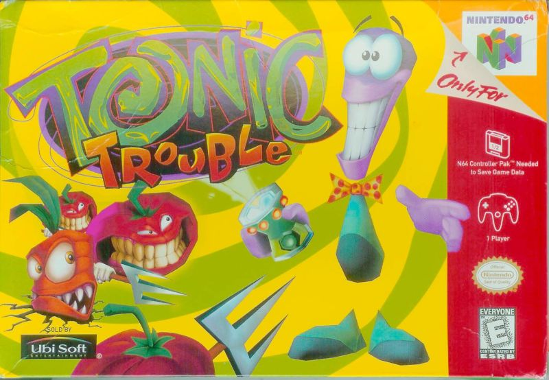 Tonic Trouble Nintendo 64 Front Cover