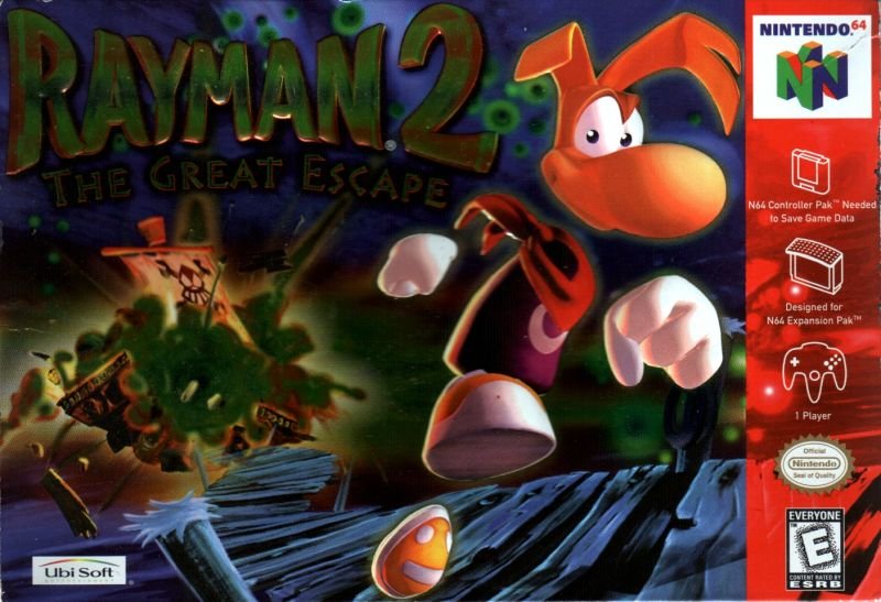 Rayman 2: The Great Escape Nintendo 64 Front Cover