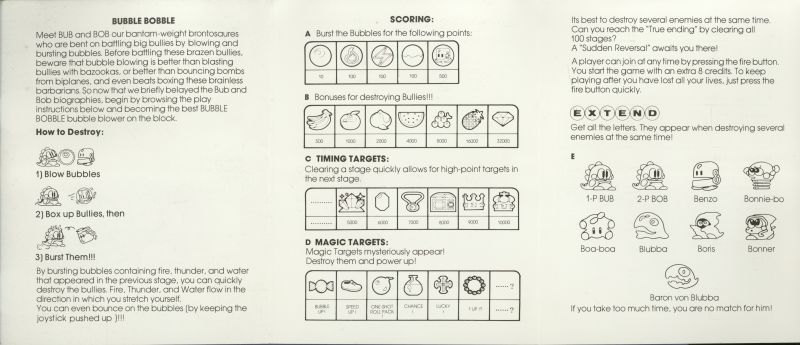 Bubble Bobble ZX Spectrum Manual