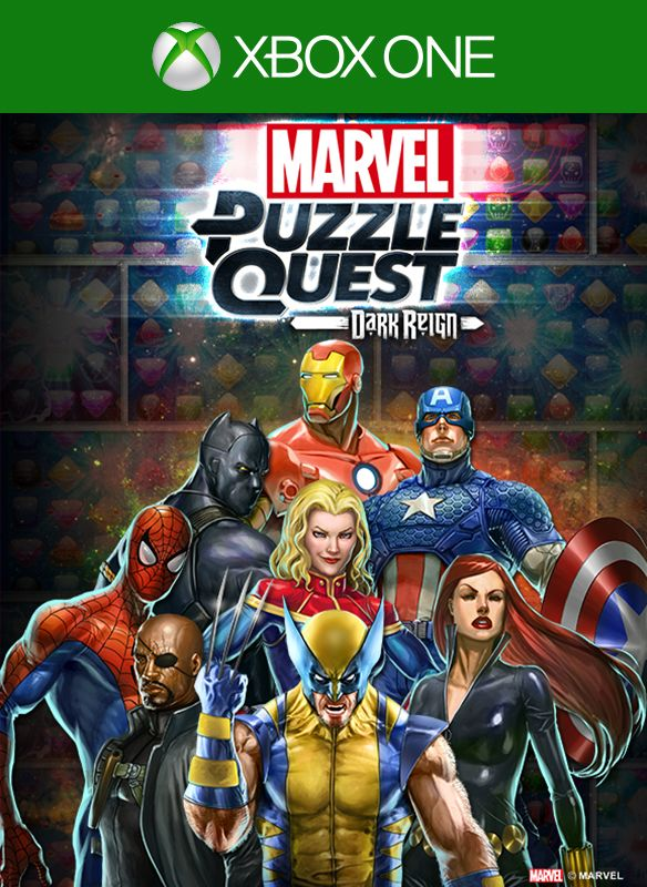 Marvel Puzzle Quest Xbox One Front Cover 1st version