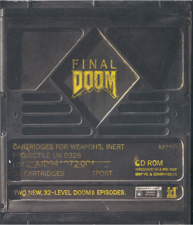 Final DOOM DOS Front Cover