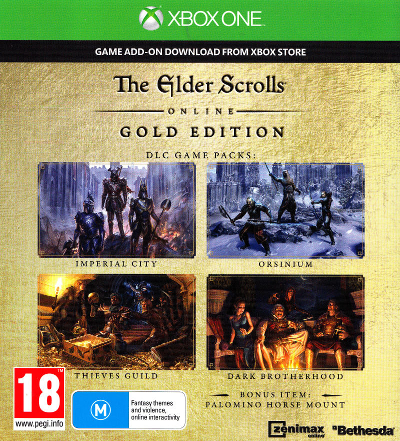 The Elder Scrolls Online: Gold Edition (2016) Xbox One box cover art