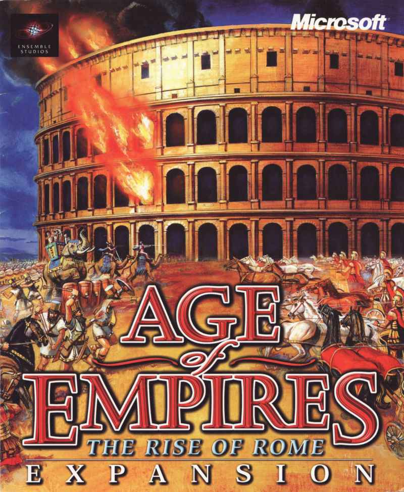 Age of Empires: The Rise of Rome (1998) Windows box cover art ...