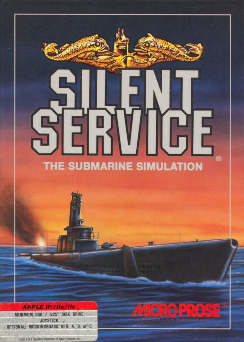 Silent Service Apple II Front Cover