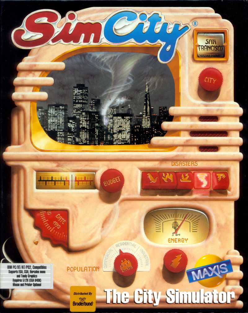 SimCity DOS Front Cover Sleeve