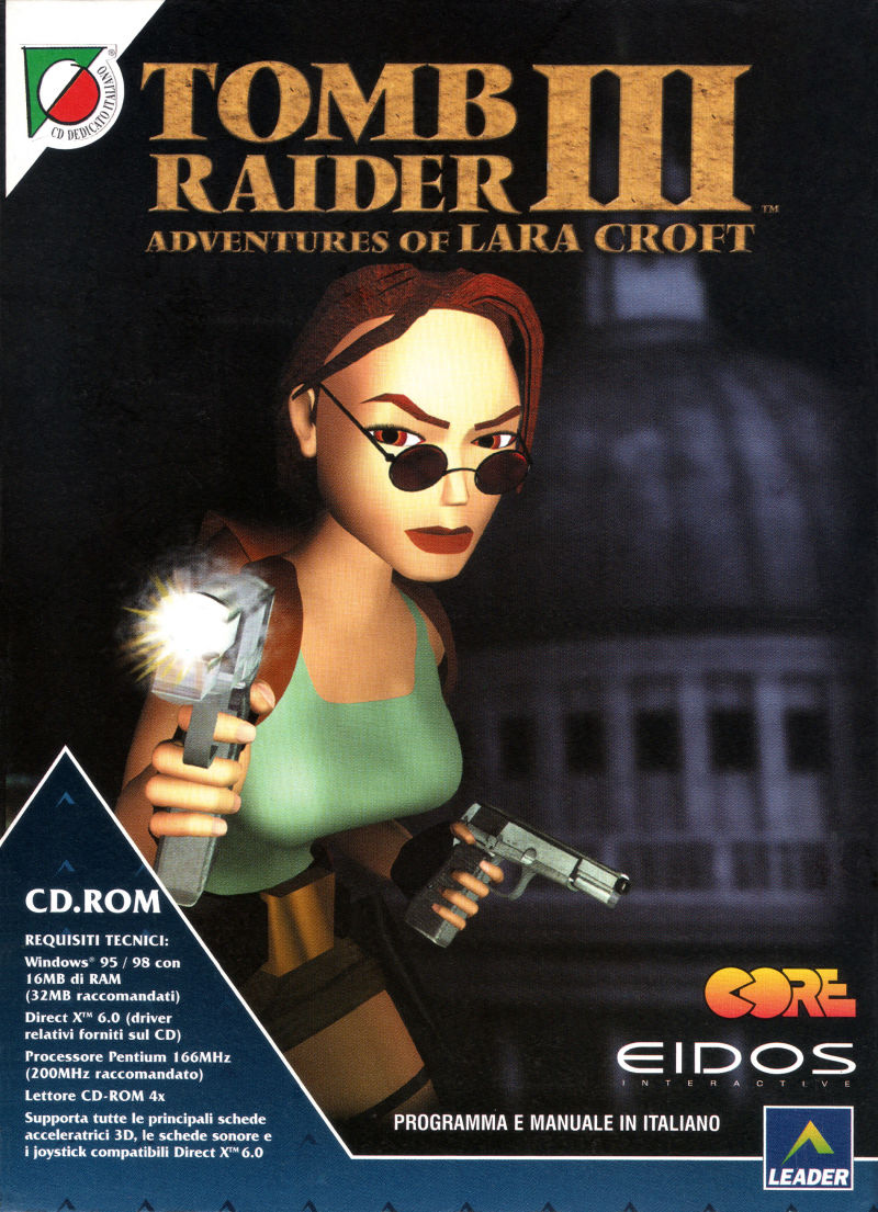 Tomb Raider Iii Adventures Of Lara Croft 1998 Windows Box Cover