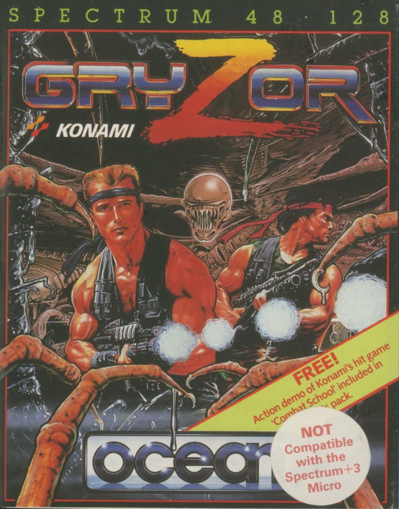 Contra for ZX Spectrum (1987) - MobyGames