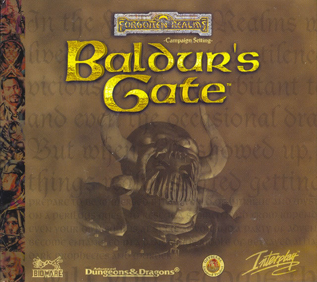Baldur's Gate Windows Other Cardboard Case - Front Cover