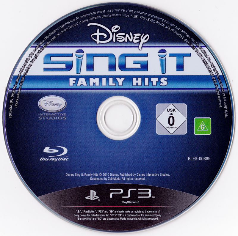 Disney Sing It: Family Hits PlayStation 3 Media
