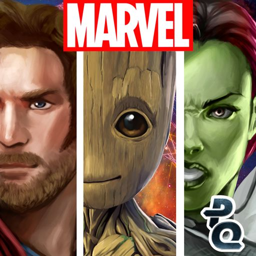 Marvel Puzzle Quest Android Front Cover R125 release (Awesome Mix of Guardians Volume 2)