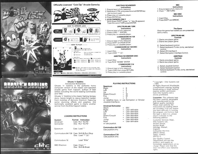 Arcade Hits 2 in 1 ZX Spectrum Manual