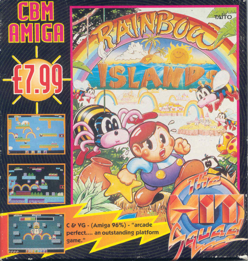 Rainbow Islands Amiga Front Cover